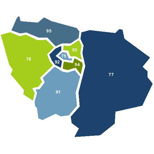 Carte Île de France